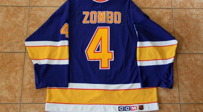 1993-94 St. Louis Blues Jersey, Set 2 Away – Rick Zombo