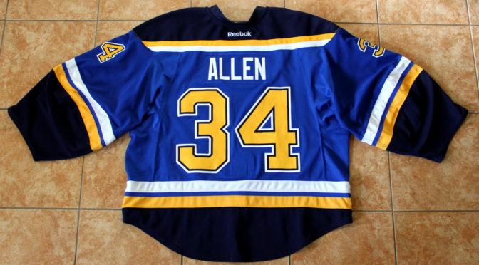 2016-17 St. Louis Blues Jersey, Set 1 Home – Jake Allen