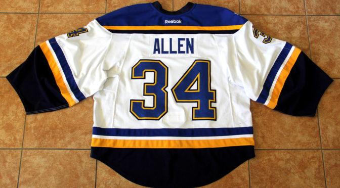 2016-17 St. Louis Blues Jersey, Set 1 Away – Jake Allen