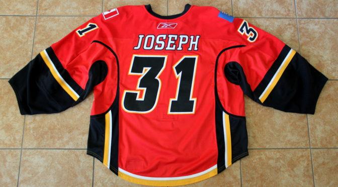 2007-08 Calgary Flames Jersey, Set 2 Home – Curtis Joseph