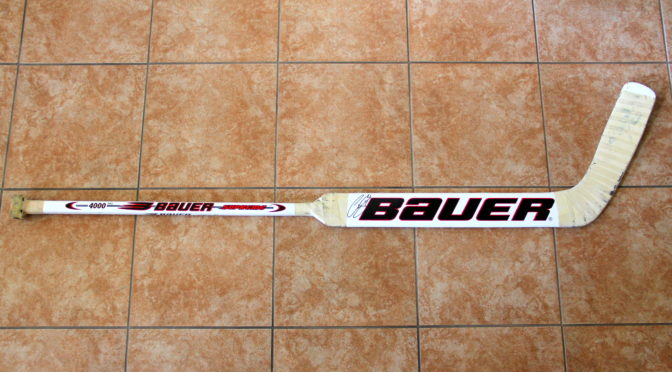 2003-04 Detroit Red Wings Game Used Stick – Curtis Joseph