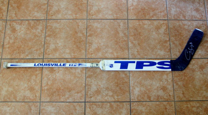 1997-98 Edmonton Oilers Game Used Stick #1 – Curtis Joseph