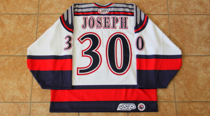 2003-04 Grand Rapids Griffins, Home (ISSUED) – Curtis Joseph