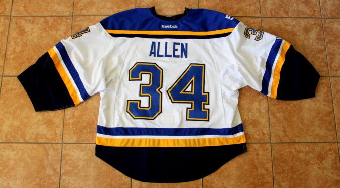 2016-17 St. Louis Blues Jersey, Set 2 Away – Jake Allen