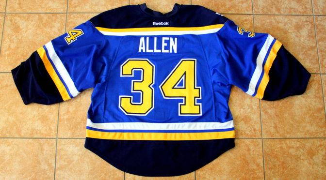 2016-17 St. Louis Blues Jersey, Set 2 Home – Jake Allen