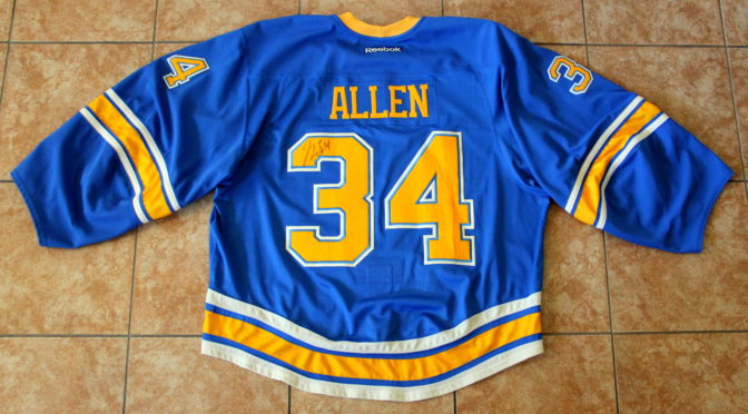 2016-17 St. Louis Blues Jersey, Set 4 Alternate – Jake Allen