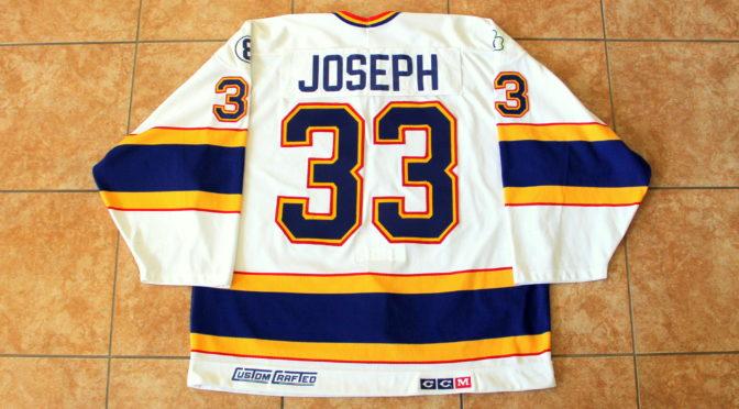1989-90 St. Louis Blues Jersey, Preseason, Home – Curtis Joseph